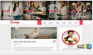scooop blogger template fashiong girls