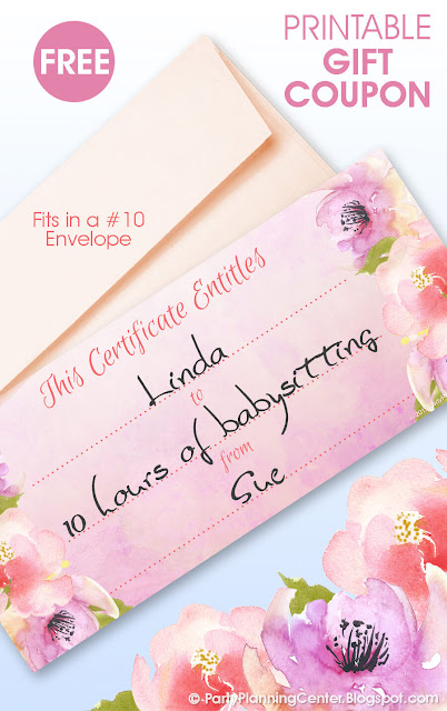 printable floral gift card