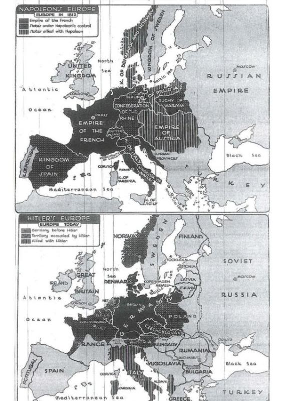 13 July 1940 worldwartwo.filminspector.com NY Times map Hitler Napoleon