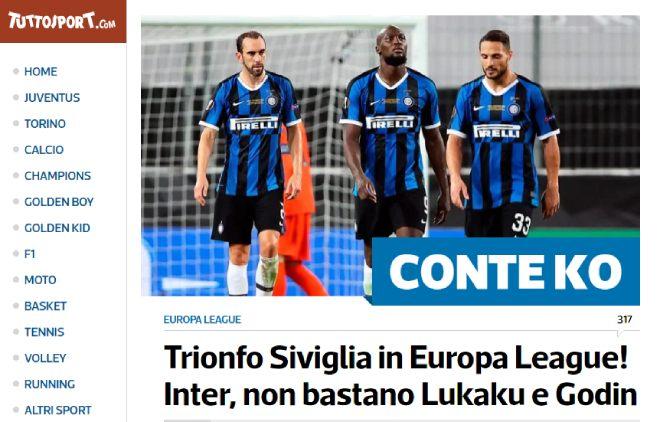 """Sevilla hạ Inter, vô địch Europa League: Báo Italia chỉ mặt """"tội đồ"""" Lukaku 1"""