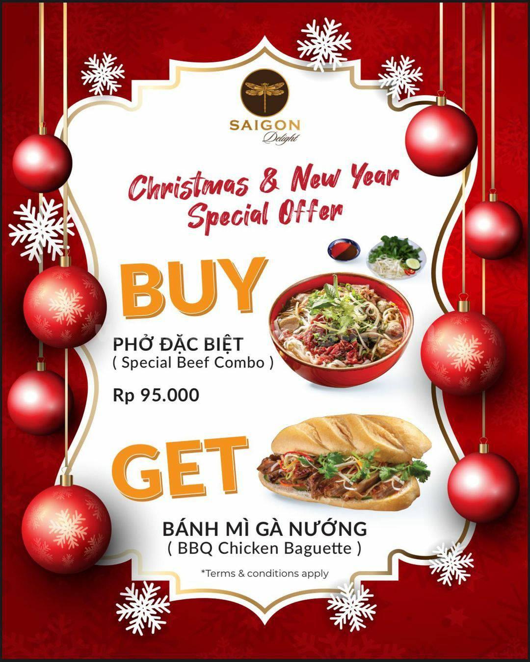 Saigon Delight Christmas & New Year Special Offer – Promo Beli Pho GRATIS Bahn Mi