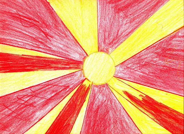 Pic of the Day - Macedonian Flag painted by 10 year old girl