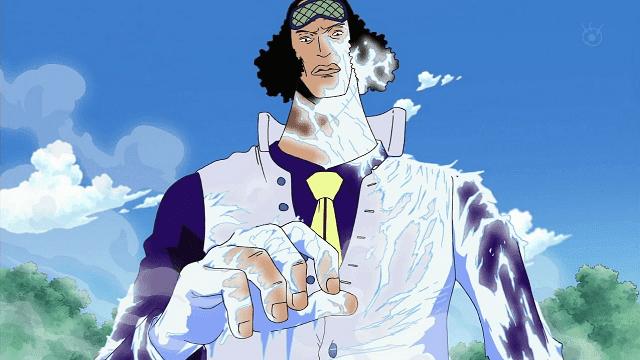Aokiji adalah pengguna elemen es terkuat di anime One Piece