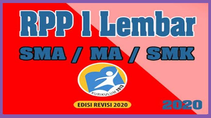 RPP 1 Lembar Bahasa Indonesia SMA Kelas XII Tahun 2020