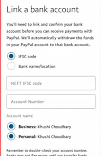link bank on Paypal Account