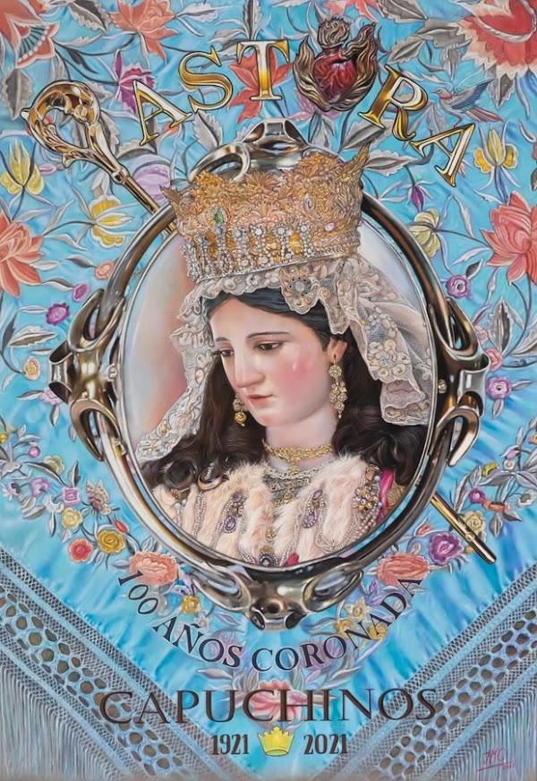 Cartel del Centenario de la Coronación de la Divina Pastora de las Almas Coronada