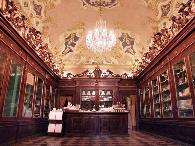 Officina Profumo Farmaceutica di Santa Maria Novella is the oldest pharmacy in Italy