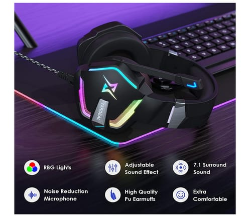 targeal 7.1 Stereo Bass Surround Sound Gaming Headset