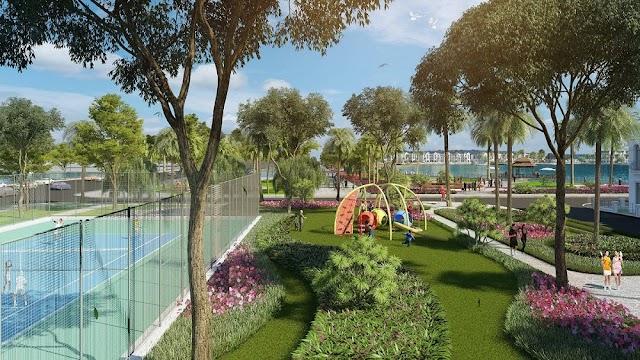 Thiết kế nhà biệt thự Vinhomes Riverside Ocean Park ấn tượng với kết cấu hạ tầng tân cổ điển