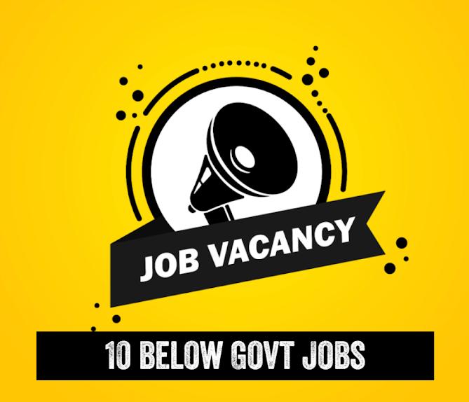 10th Standard Latest Govt Jobs