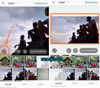 Upload foto Instagram tanpa terpotong
