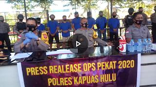 [VIDEO]: Press Release Operasi Pekat, Polisi Kapuas Hulu Ungkap 77 Kasus