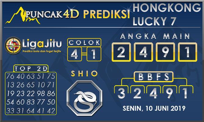 PREDIKSI TOGEL HONGKONG LUCKY7 PUNCAK4D 10 JUNI 2019