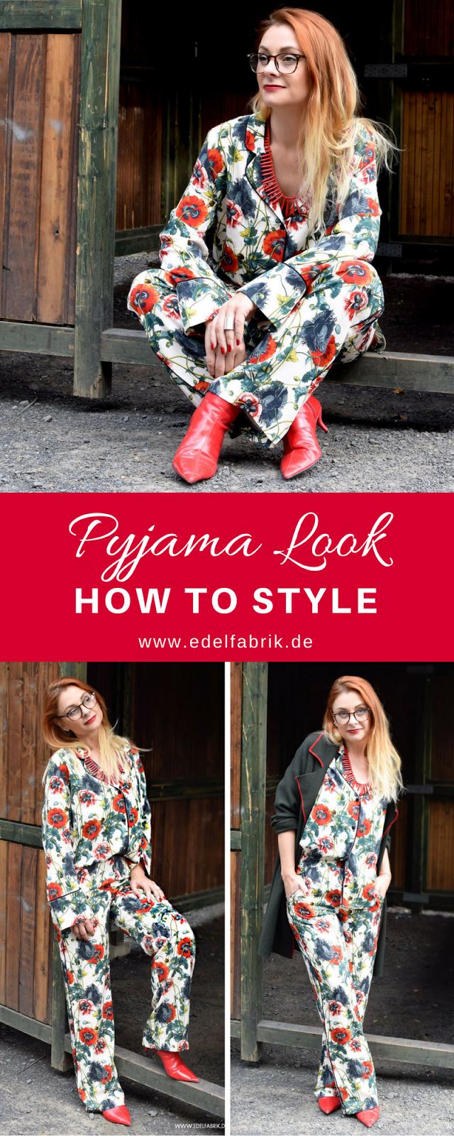 Rot und Muster, Streetstyle Pyjama