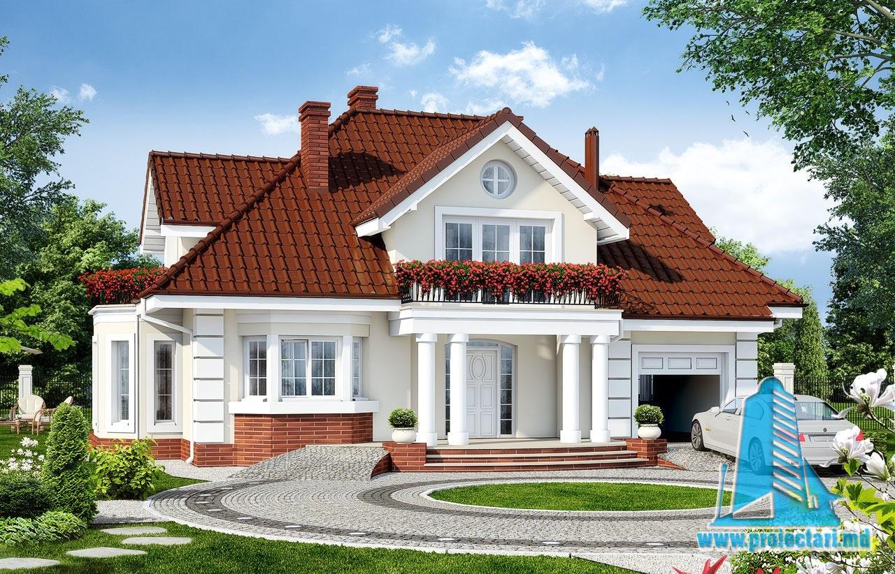 Proiecte de case proiect de casa cu parter mansarda si for Youtube case cu mansarda