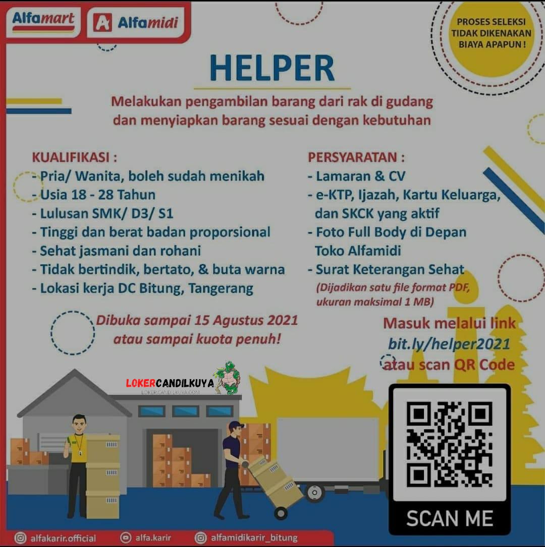 Lowongan Kerja Alfamart Tangerang