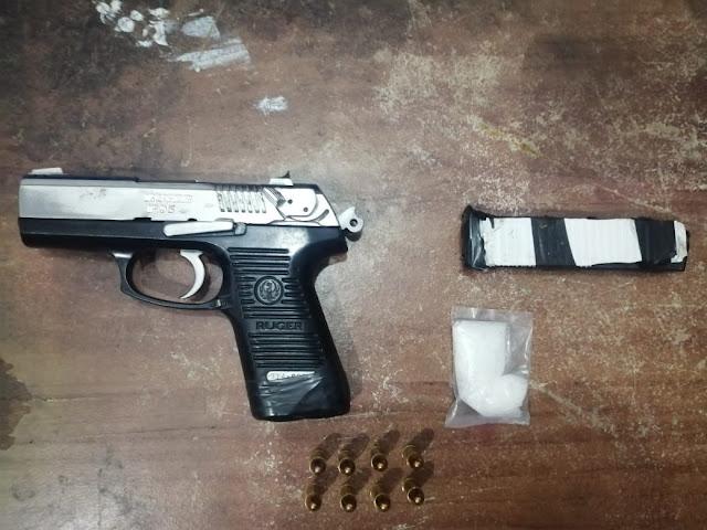 Detiene SSP a uno en posesión de arma de fuego y droga, en Zacapu