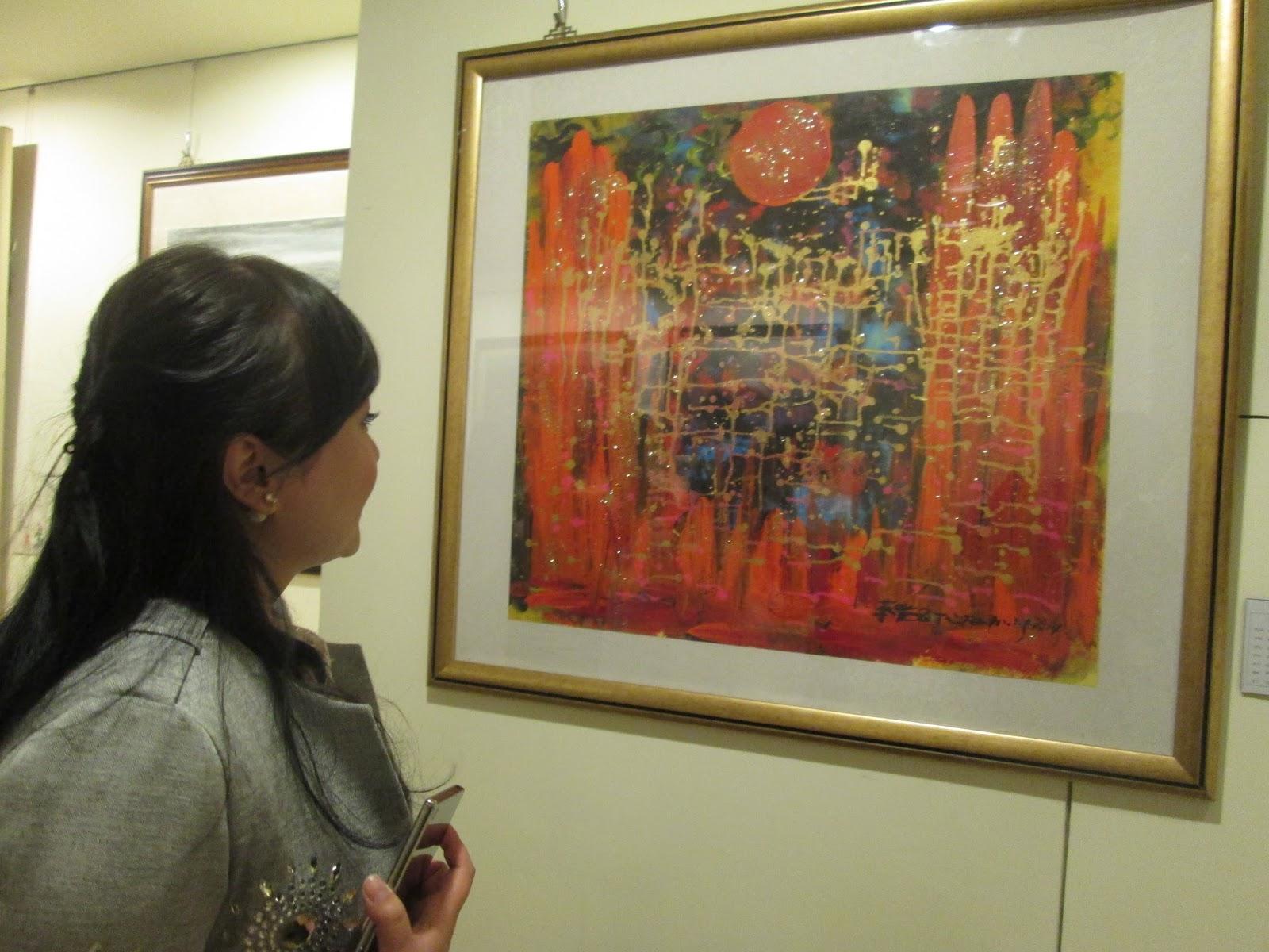 藝流國際春拍會 蔡豐名 <浴火鳳凰> 88萬5千元高價落槌, 頗受藏家青睞。