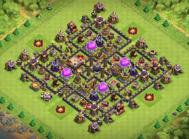 Base COC TH9 Farming 24
