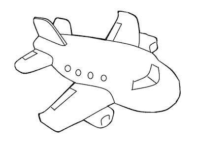 Gambar Mewarnai Pesawat Terbang - 11