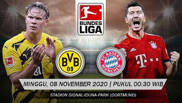 Prediksi Borussia Dortmund Vs Bayern Munchen, Minggu 08 November 2020 Pukul 00.30 WIB @ Mola TV