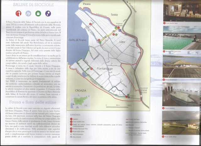 Mapa de las salinas de Secovlje