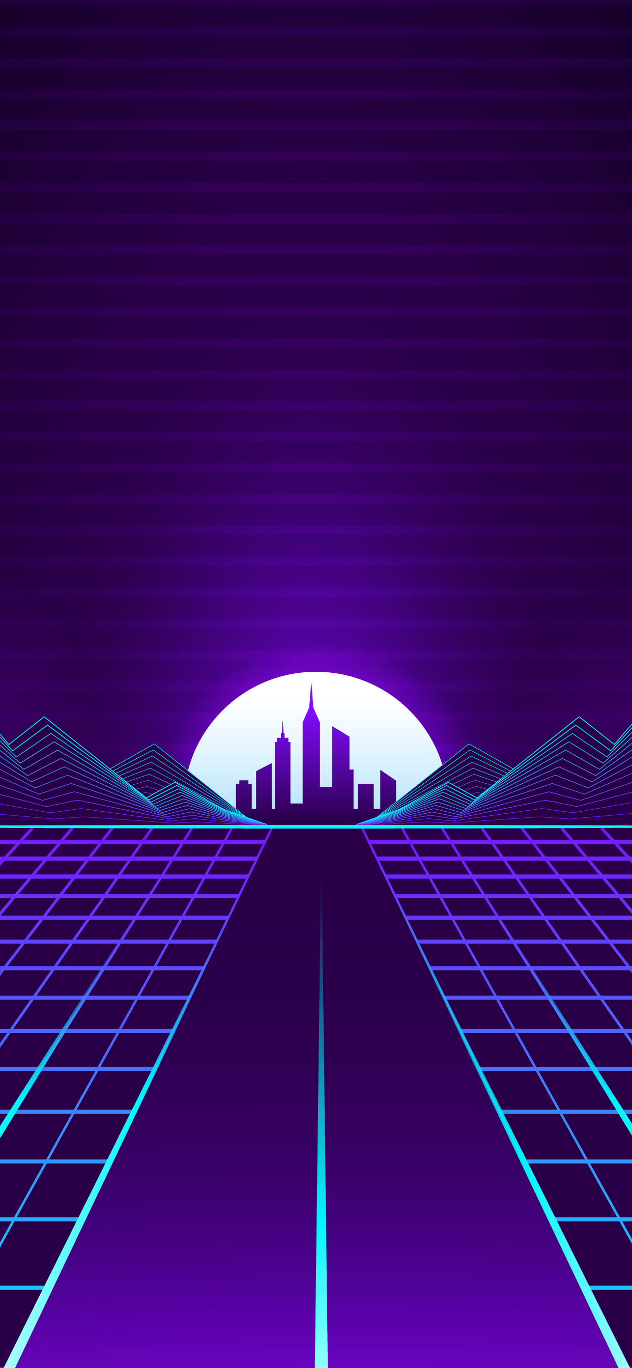 Cool outrun retro wave wallpaper hd for mobile phone