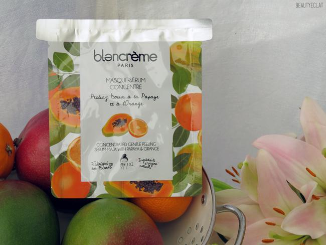 avis blancreme masque serum papaye orange