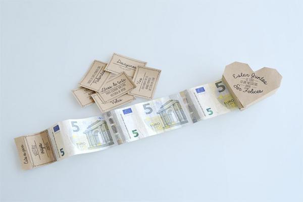 regalar dinero a los novios de forma original