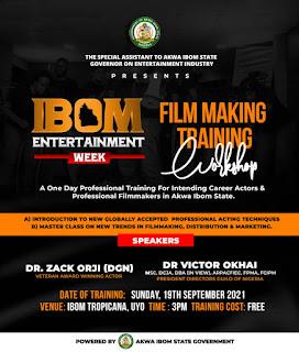 IBOM ENTERTAINMENT WEEK Filmmaking Training Workshop