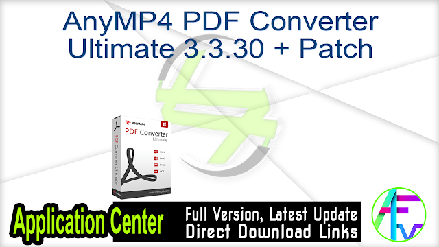 AnyMP4 PDF Converter Ultimate 3.3.30 + Patch