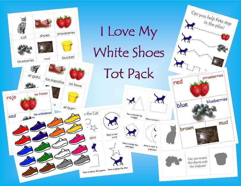 Pete The Cat I Love My White Shoes Free Printables