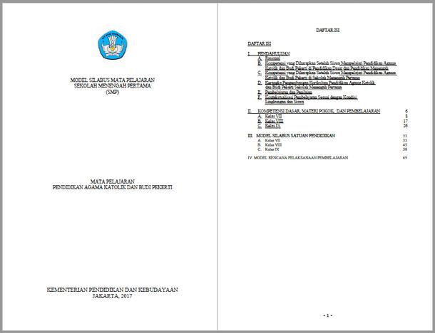Silabus RPP Pendidikan Agama Katolik dan Budi Pekerti SMP Kurikulum 2013 Kelas VII, VIII, IX