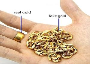 طريقة معرفة الذهب الحقيقي الاصلي من المزيف