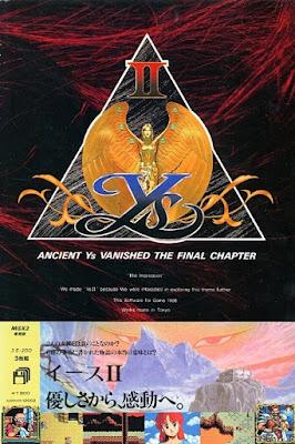 El Pequeño Rincón de los Grandes RPG - Ys II: Final Chapter - Portada caja NTSC Japón