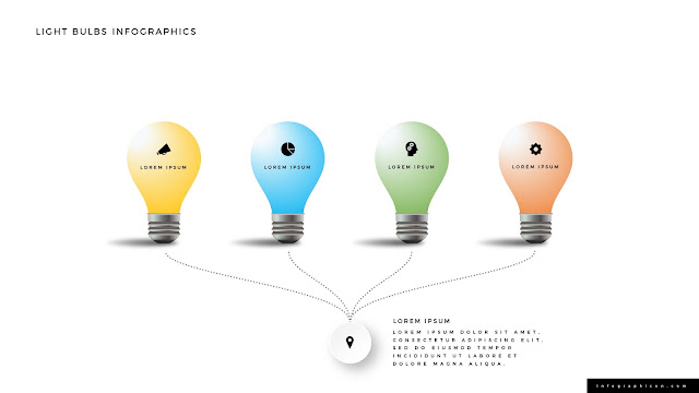 Shining Light Bulb Infographics PowerPoint Slide Type E