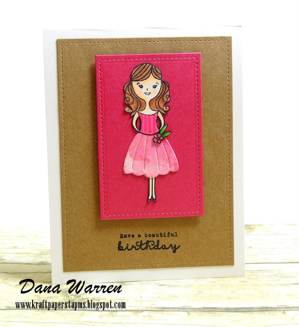 Dana Warren - Kraft Paper Stamps - Hero Arts Dress Up