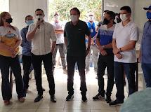 DONA INÊS - Tião Gomes e Prefeito inauguram programa 'Tá na mesa'