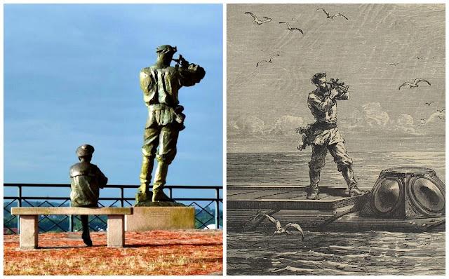Monumento a Julio Verne y el Capitán Nemo