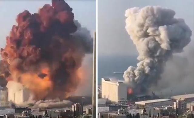 Video Pendek Letupan Di Beirut Lebanon (Letupan kedua terbesar)