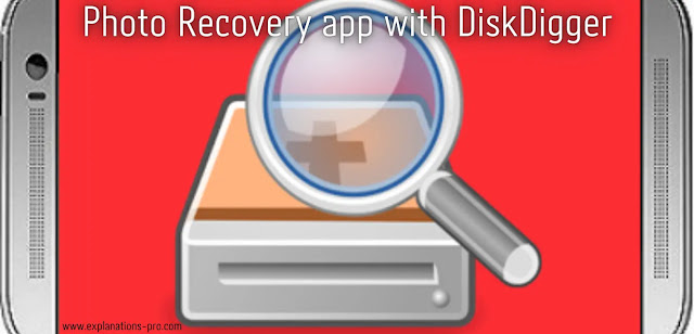 Photo Recovery app with DiskDigger