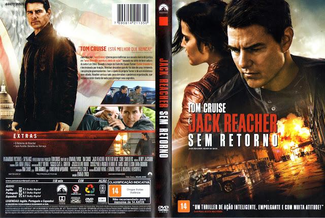 Capa DVD Jack Reacher Sem Retorno (Oficial)