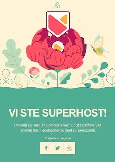 Ljeto 2019, Apartman Romina - Pula: Airbnb Superhost 5-ti put zaredom.