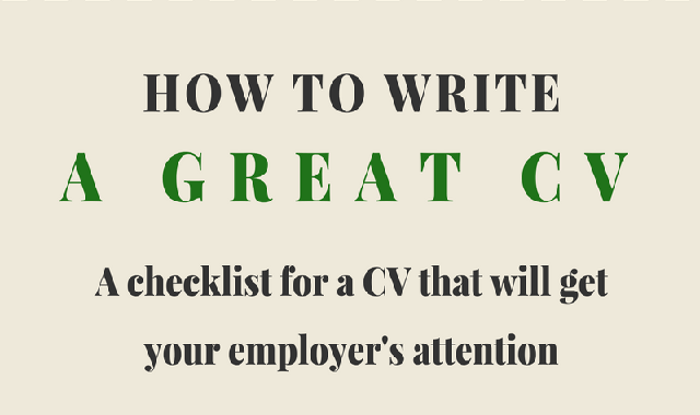How to Write a Great CV #infographic