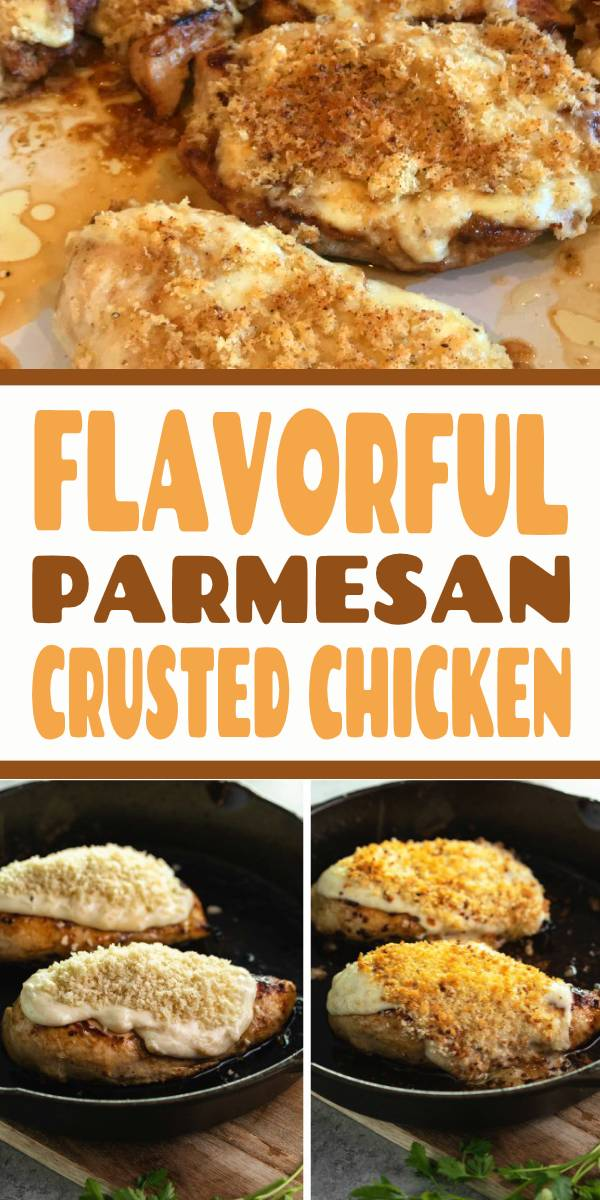 This Copycat Longhorn Parmesan Crusted Chicken recipe has an easy marinade and a delicious Parmesan Crust that's baked on top. It tastes JUST like the restaurant version! #Longhorn #ParmesanCrustedChicken #Chicken #Copycat #Dinner