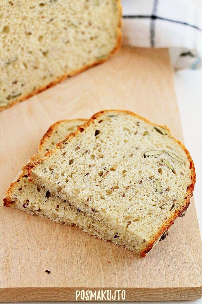 chleb pszenno zytni z ziarnami pieczony w garnku