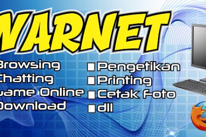 Contoh Desain Banner Warnet Lengkap Berbagai Ukuran