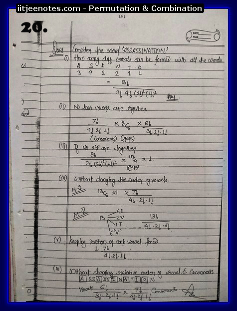 Permutation and Combination notes9