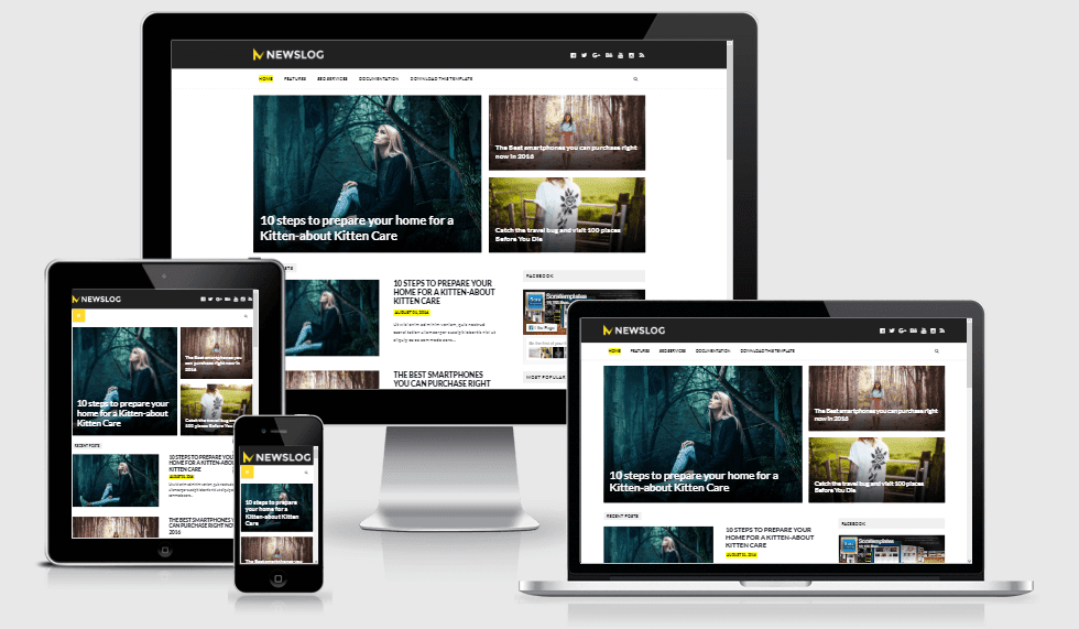 NewsLog - Responsive Magazine Style Blogger Template
