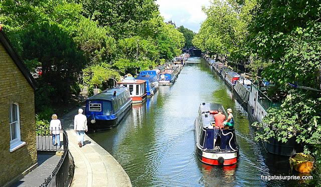 Casas-barco em Little Venice, Londres